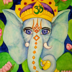 Heather Torres Art | Ganesh | watercolor illustration of elephant