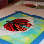 working on commission, butterfly in progress