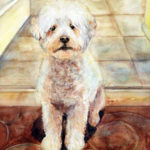 dog watercolor portrait, dog painting