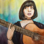 musician watercolor painting
